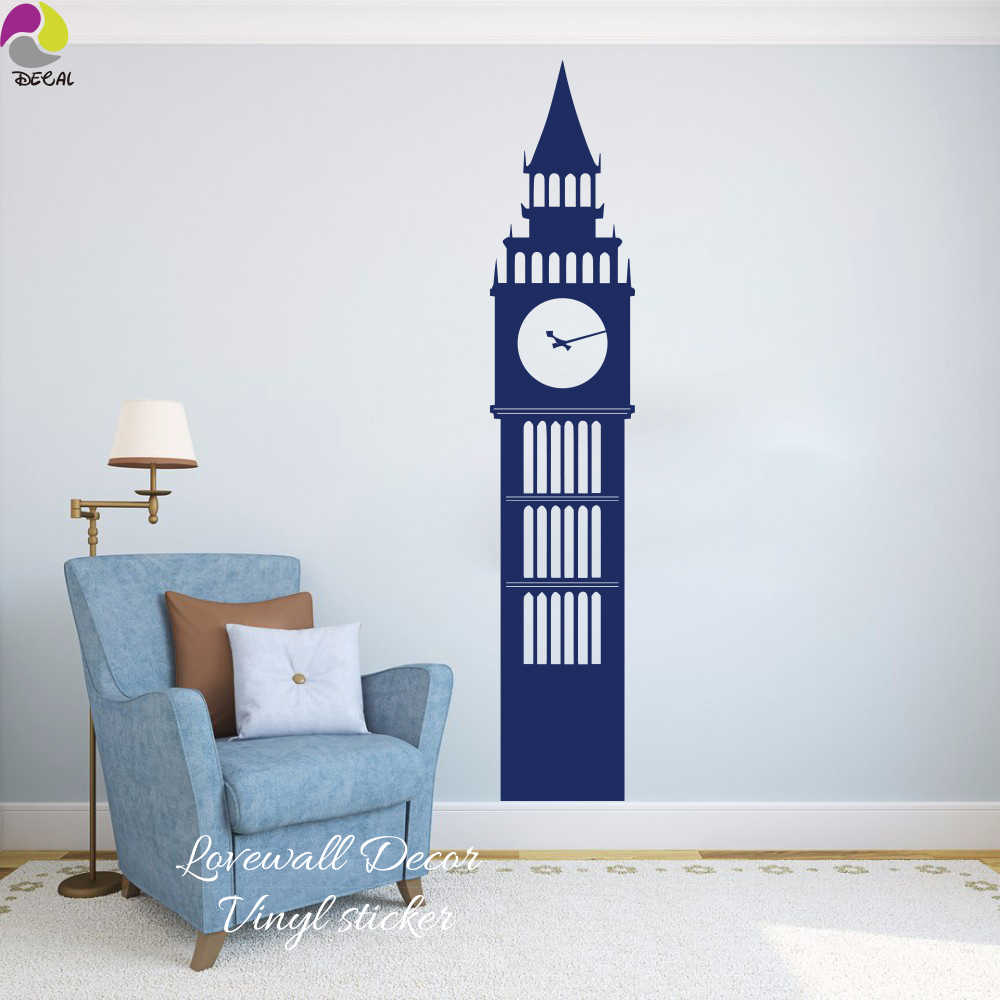 London Big Ben Travel Landmarks Wall Sticker Living Room Kids Room United Kingdom England Big Ben Clock Wall Decal Vinyl Deocr