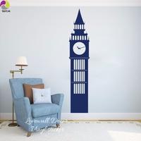 London Big Ben Travel Landmarks Wall Sticker Living Room Kids Room United Kingdom England Big Ben