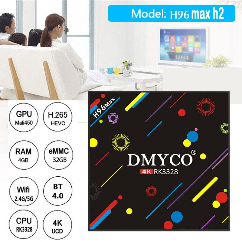 2019 novo quente h96 max h2 caixa de tv android 7.1 4 gb 32 rk3328 quad core 4 k vp9 hdr10 wifi bluetooth 4.0 media player pk x92 tx9 pro