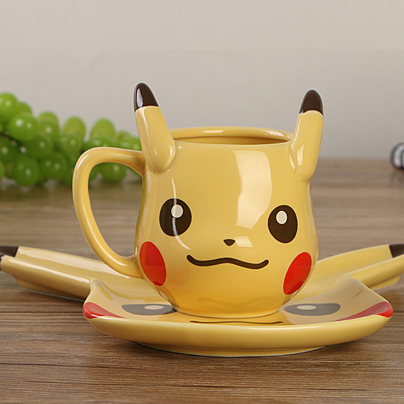 Anime Game Pocket Monsters Pikachu Coffee Mug Creative Cute Ceramic Coffee Cup for Friend Gift