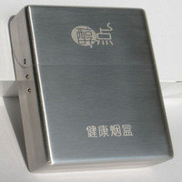 1 pcs The Cigartte Tobacco mellower function storage case stainless steel case for cigarettes storage