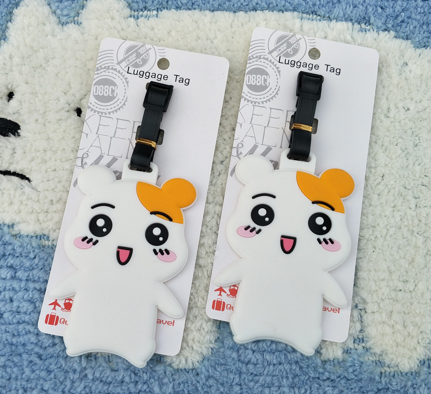 IVYYE Cute Hamster Anime Travel Accessories Luggage Tag Suitcase ID Address Portable Tags Holder Baggage Label New