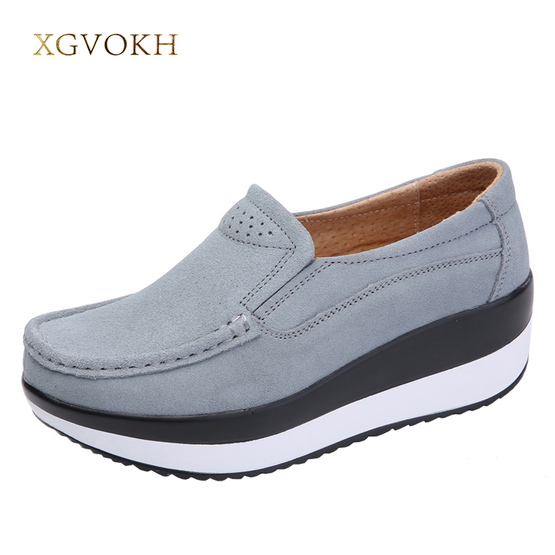 XGVOKH Women Flat Platform Casual Ladies Shoes Woman Slip on Flats Female Footwear Moccasin Shoes for womens Creepers hzxinlive 2018 flat shoes women breathable flats shoes for women ladies casual platform female fashion summer sneakers footwear