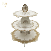 Nicro 3 Tier Paper Cupcake Stand Dessert Cardboard Stand Tea Time Wedding Cocktail Birthday Party Event