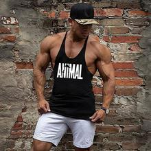 Gyms Tank Top Men Bodybuilding Clothing Blank shirt Fitness Singlets Sleeveless tshirt workout Cotton Muscle Vest