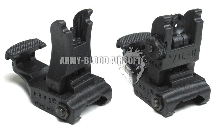 Taktikal A.R.M.S. # 71L-F / R Set Front & Rear Sight Set Black - Memburu