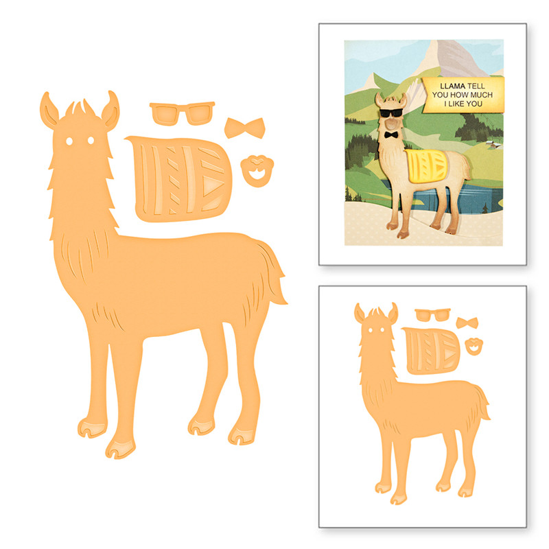 Alpaca  Llarma animal  die cut Metal Dies Scrap booking card making cutting dies