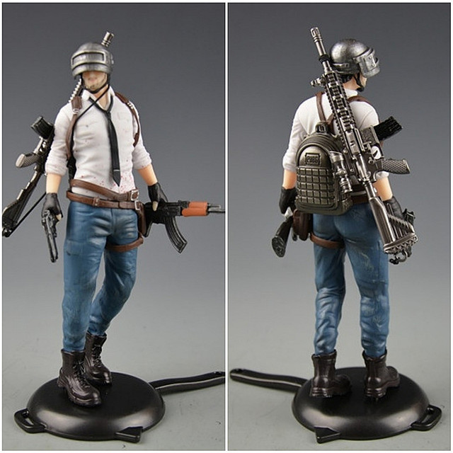 Playerunknowns Battlegrounds  PUBG Around 6 inch doll figure spot to eat chicken tonight Metal Fashion Car Weapon model 12Style