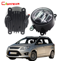 Cawanerl 2 Pieces Car Styling LED Front Fog Light Daytime Running Lamp DRL For Ford Grand C MAX Fusion Tourneo Connect Transit