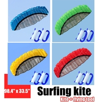 JIMITU 250*85cm Kite Surfing Trainer Kiteboarding Power Soft kites Confezione Sports Beach Kite Easy to Fly 4 Colors