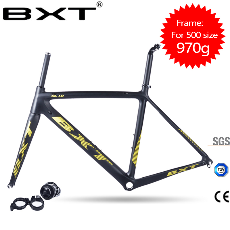 2017 BXT New Products Cheap Carbon Road Frame Bike Racing Bicycle Frameset V Brake DI2 Chinese Carbon Frames Cadre Carbone Route
