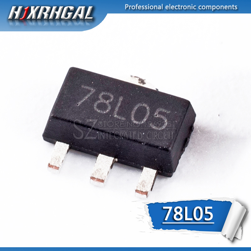 10pcs 78L05 SOT89 SOT-89 SOT SMD 5V Three-terminal Regulator Patch Transistor