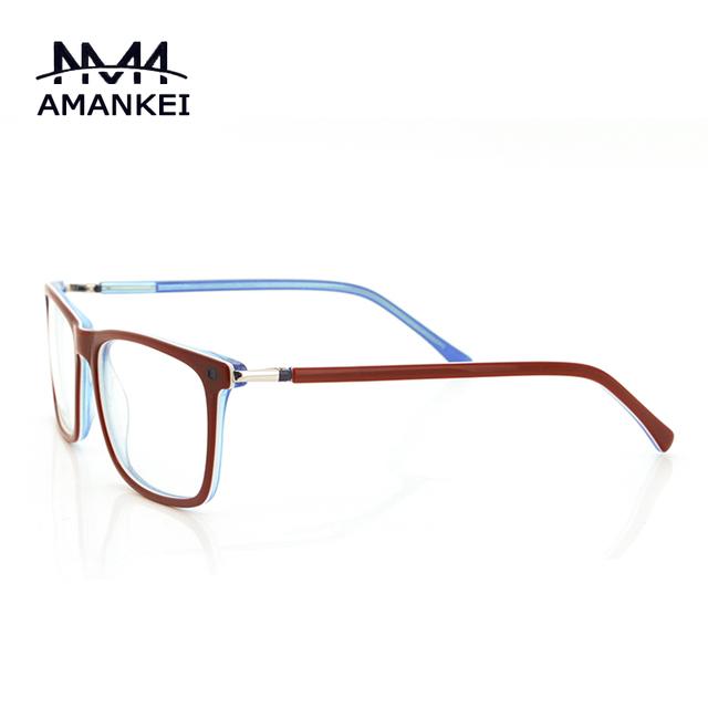 Trendy Red Rim Óculos Limpar Lens Quadro Mulheres Rosto Oval Vidros Ópticos Quadro Designer Óculos Frames Online Fino para As Mulheres