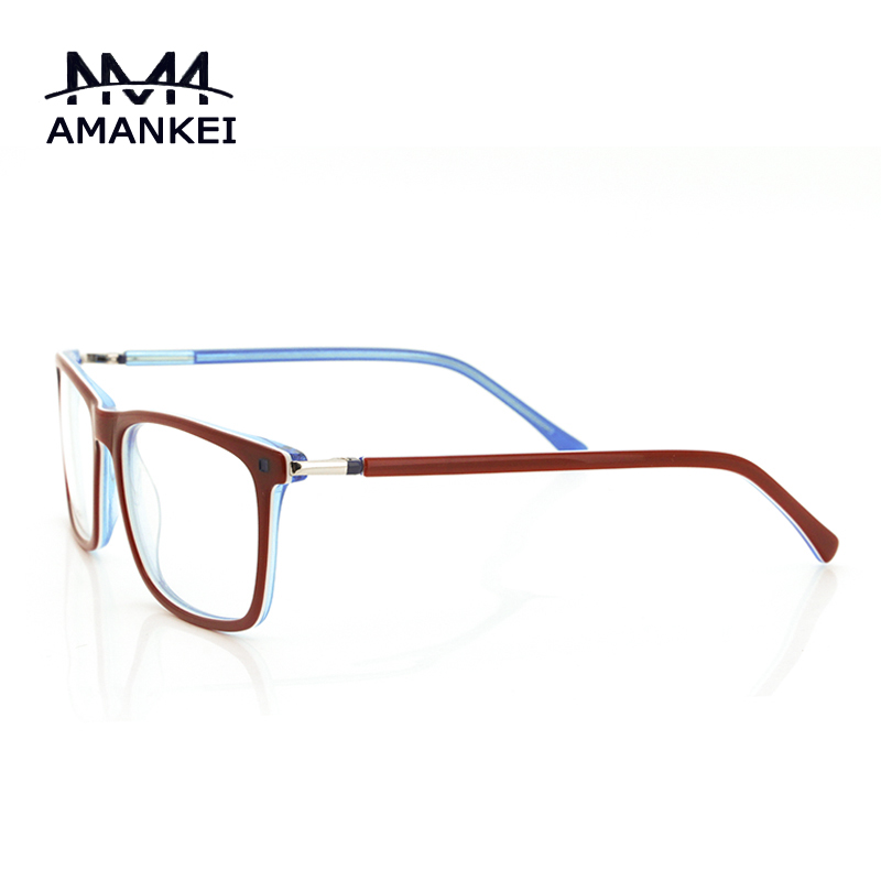 trendy red rim glasses clear lens frame women oval face optical glasses frame designer thin online