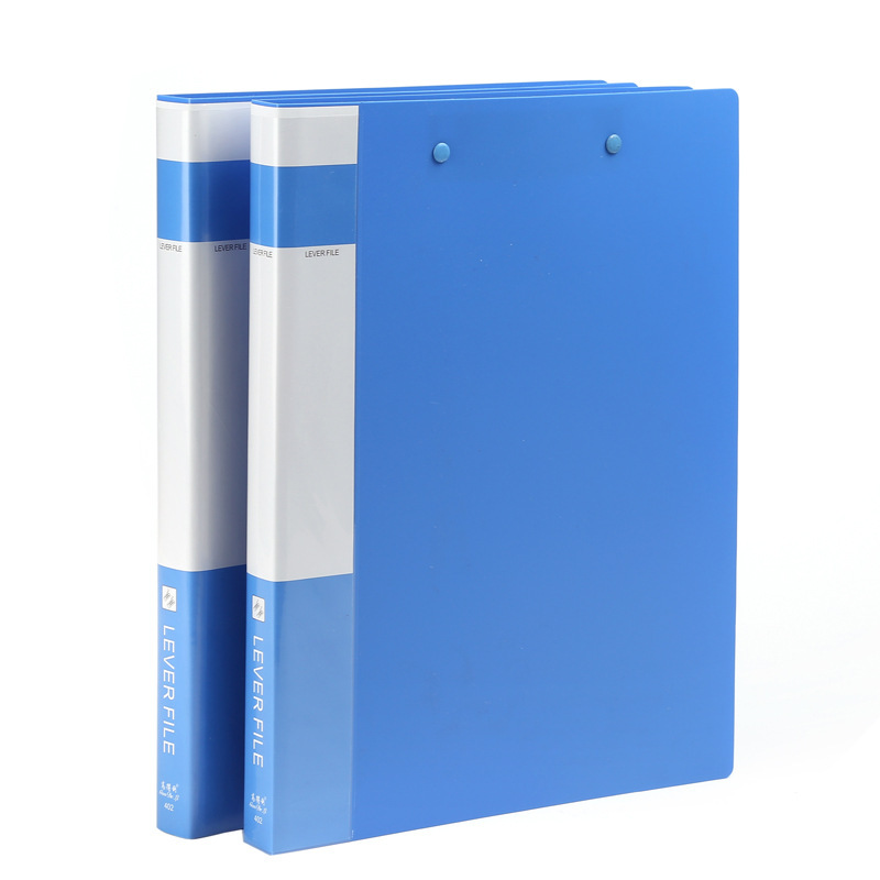 Office Supplies A4 Plastic Double Clip folder new material Information Folder Office storage folders Stationery wholesale