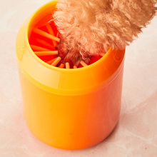 Portable Pet Products Quickly Cleaning Paws Muddy Dog Foot Wash Tools Plastic Cat Grooming Massage Paw Cleaner