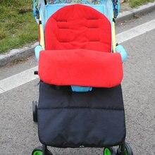 Спальный мешок для малышей коляска теплый зимний новорожденного конверт детский толстые ноги чехол для коляски коляске детской коляски для ног