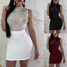 Womens Very Sexy Bodycon Dress O-Neck Pencil Party Club Dress