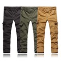 Brand Man Multi-pocket Cotton Long cargo Pants millitary clothing Trousers Men Camouflage army style