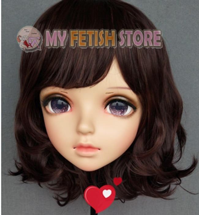 (Miao-9) feminino doce menina resina meia cabeça