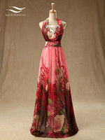 Solovedress Elegant Halter Floor Length Real Photos Krystal A Line Evening Dress Pleat Evening Gown Vestidos De fiesta SLE008