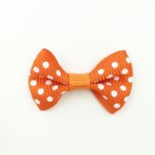 100Pcs Orange-Red Bowknots Bows Neoud Wedding Scrapbook Crafts Decorative DIY Flowers & Wreaths 36x23mm