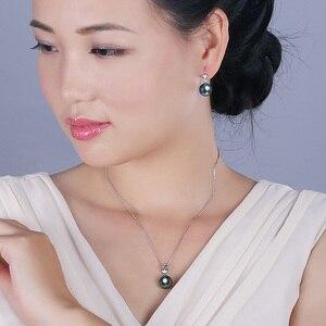 Image 3 - YS 18K Solid Gold Earring 8 9mm Black Tahitian Pearl Drop Earrings Wedding Fine Jewelry