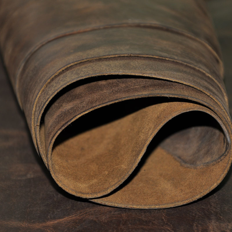 Wax Horse Leather Thick Genuine Leather Raw Material Diy Leather 2011005