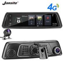 Jansite 10 дюймов FHD ips сенсорный экран 4G Автомобильный видеорегистратор Android5.1 автомобильное зеркало gps навигация Bluetooth ADAS обратное изображение двойная SD карта