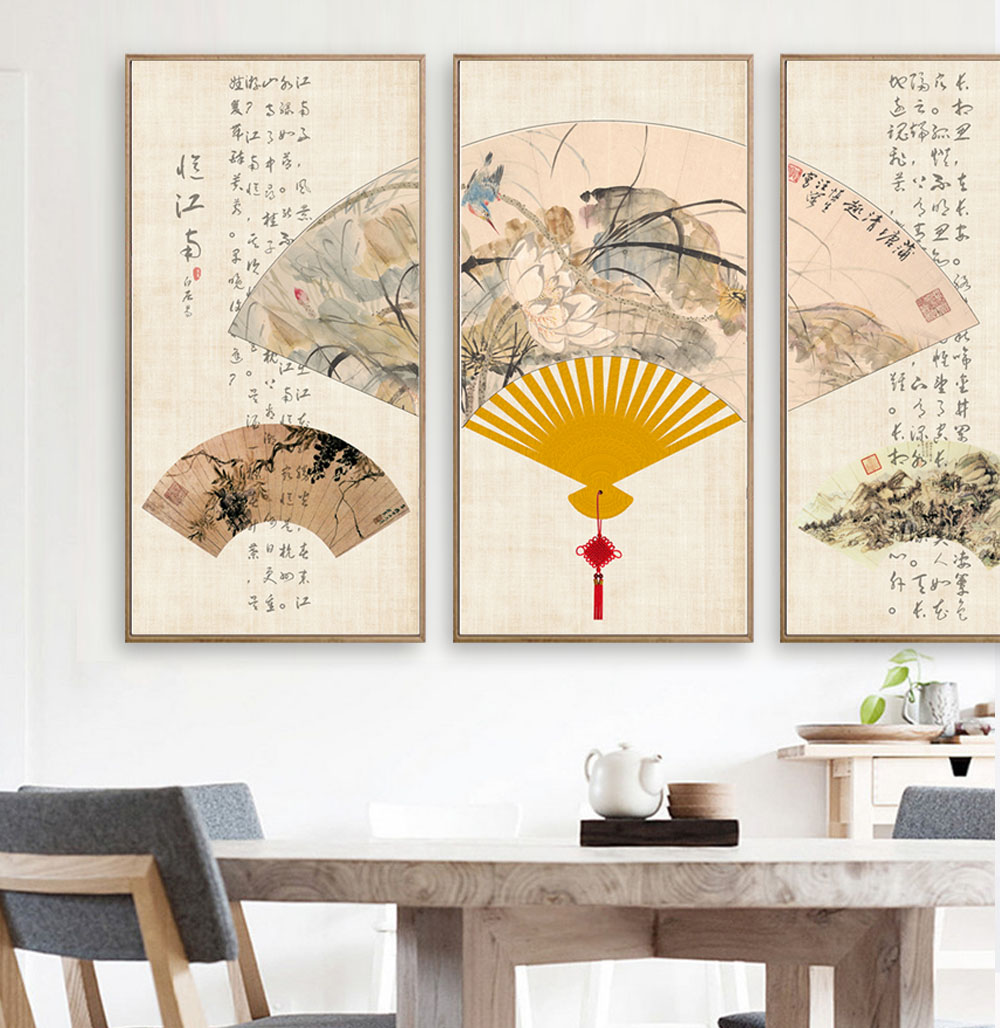 Ventagli Da Parete Decorativi acquista ventaglio di carta in stile cinese pittura di arte