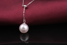 [MeiBaPJ] AAAA+ Top quality Akoya perfect round pearl pendant necklace with 18K white/yellow gold chain wedding jewelry