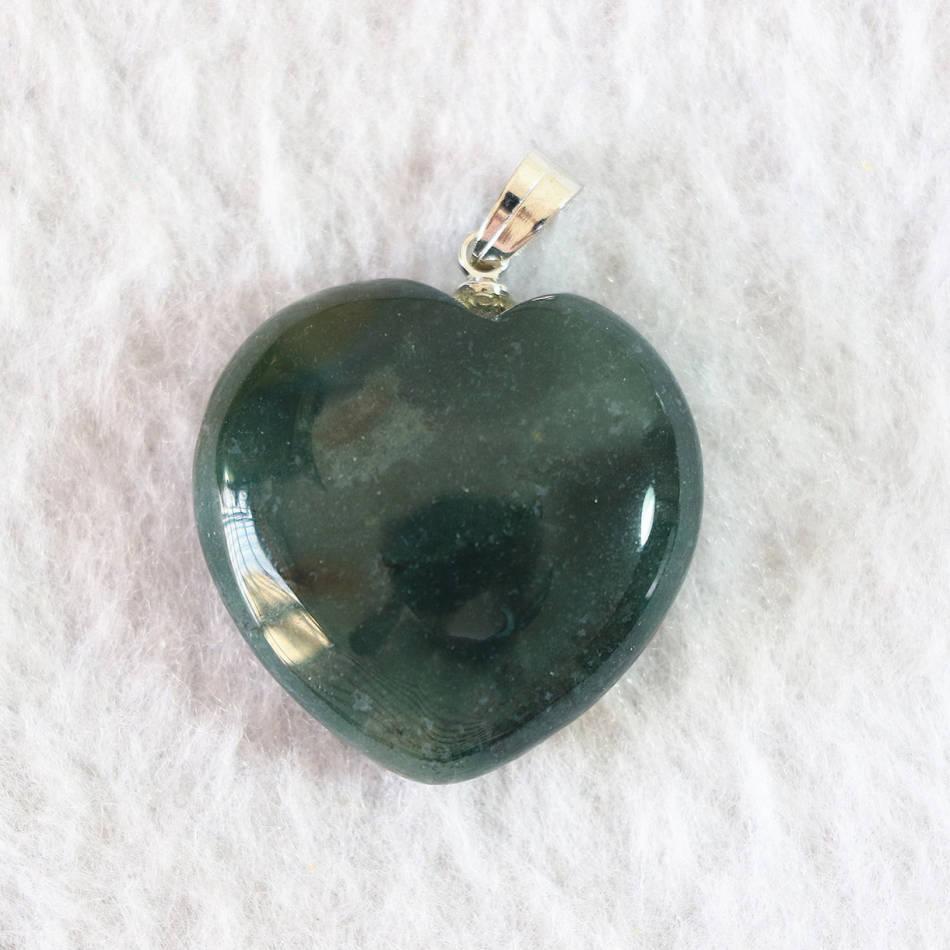 ᗗHot Indian Agat Piedra Natural Onyx forma de corazón colgante para ...