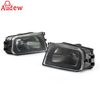 1Pair Black Car Fog Lights Bumper Lamp Housing Left Right For BMW E39 5 Series 97