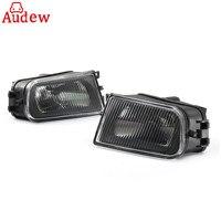 1Pair Black Car Fog Lights Bumper Lamp Housing Left & Right for BMW E39 5 Series 97 00/ Z3 97 01