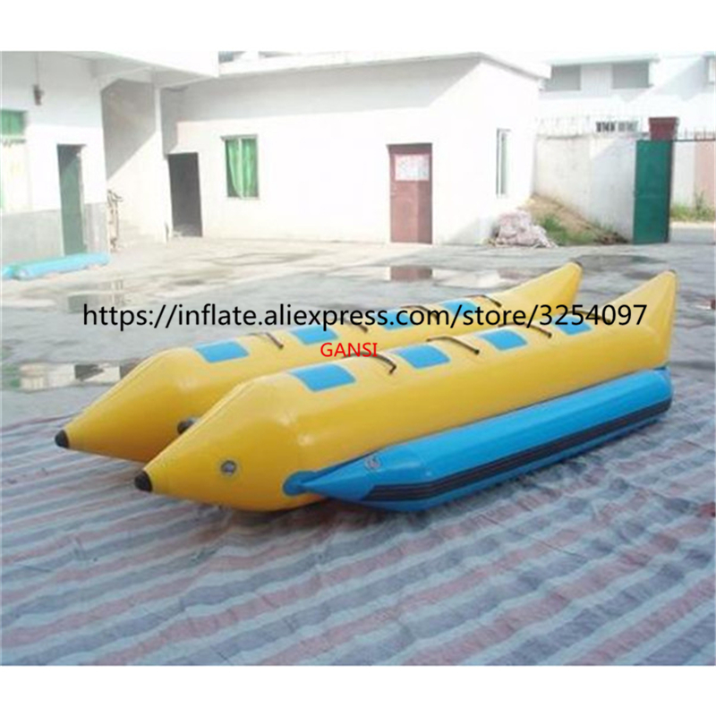 8 Seats Aqua Inflatable Flyfish Boat Towable 0 9mm Pvc Water Floating Inflatable Banana Boat For Sale Inflatable Bouncers Aliexpress