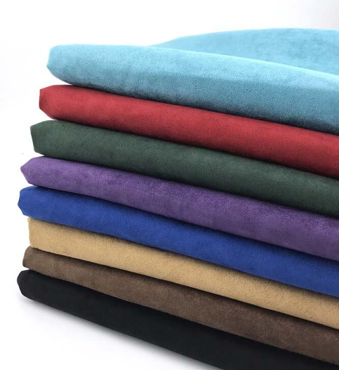 Однотонные черные темно-синие замшевые Ткань для Костюмы одежды мягкая поли микро-замши Материал Сумки Обувь Чехлы для диванов ткани Tecido ме...