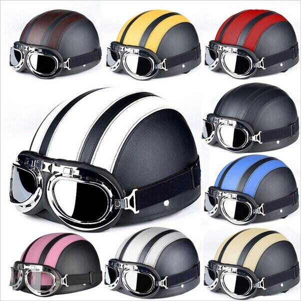 Motorcycle font b Helmets b font For Harley Open Face Retro Half font b Moto b