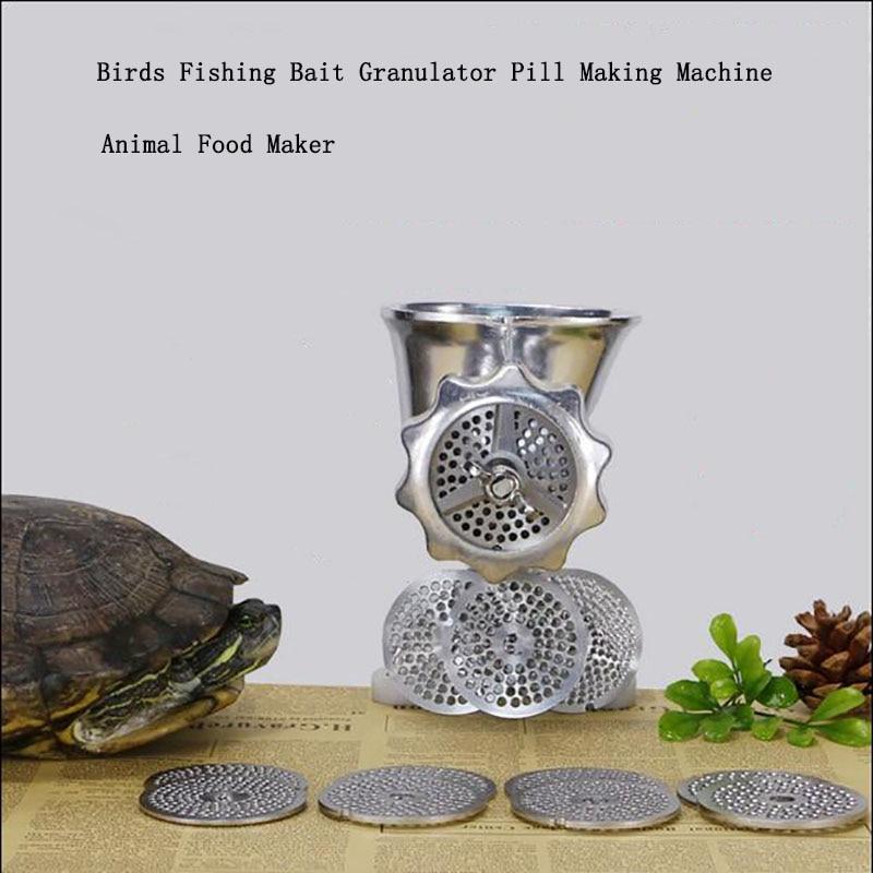 1 pc Animal de compagnie oiseaux bricolage machine d'alimentation manuelle oiseaux pêche appât granulateur pilule faisant la Machine Animal alimentaire fabricant granule mell