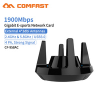 Comfast CF-958AC высокой мощности PA Wifi адаптер 1900 Мбит/с гигабитная электронная Спортивная сетевая карта 2,4 ГГц + 5,8 ГГц USB 3,0 ПК LAN Dongle приемник
