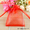 Free Shipping,Drawable Organza Bags 13x18 cm,Wedding Gift Bags,Jewelry Packing Bags,Wedding Pouches,Multi-Colors 100pcs/lot