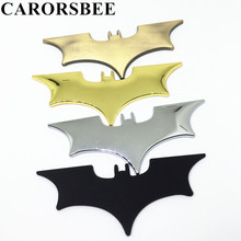 CARORSBEE Cool Metal bat auto logo car styling stickers batman badge emblem tail decal motorcycle motocross bicycle accessories