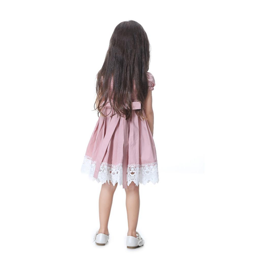 HTB1Isnjg nI8KJjy0Ffq6AdoVXaP - Toddler Girl Dress Solid Pink Lace Wedding Party Dress 2018 Brand Summer Princess Dresses Clothes Size 1-8 vestido infantil