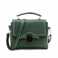 Women Bag Fashion PU Leather Rivet Handbags Female Medium Women Shoulder Bags Famous Brands Women Messenger
