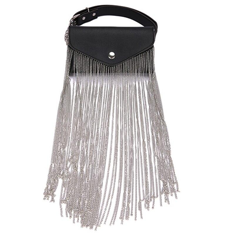 Women Waist Bag Leather Female Belt Chain Bags Fashion Fanny Pack Waist Belt Bag Female Hip Belt Bum Pouch Phone Bags