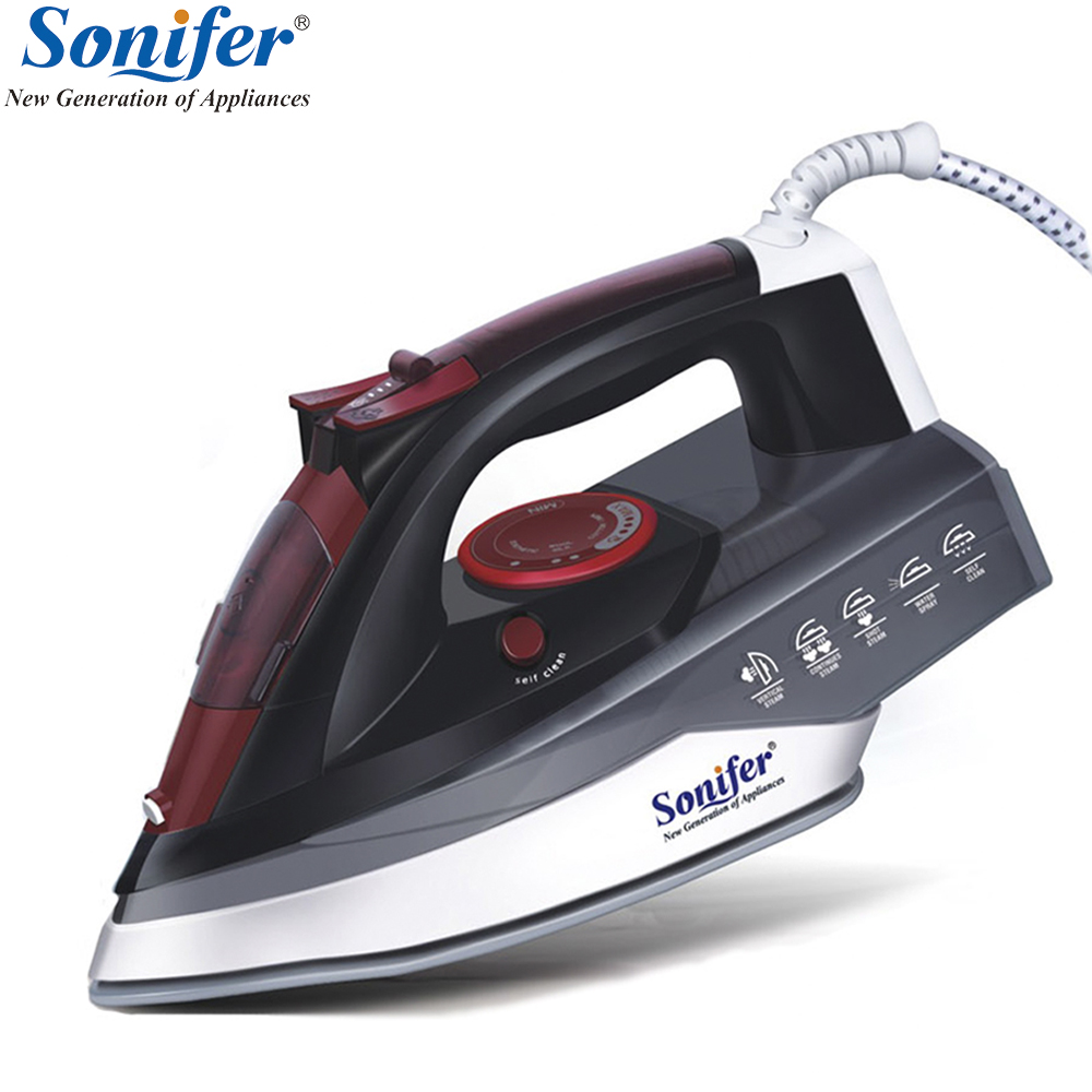 2200W Electric Iron Steam Flatiron For Clothes High Quality Multifunction Ceramic Soleplate Laundry Appliances Sonifer|Electric Irons| |  - title=