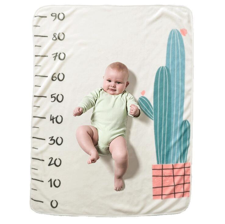 Прямоугольное одеяло-Ростомер для новорожденного ребенка/ребенка, подарок для мальчика, одеяло для фотосъемки 76X102 см