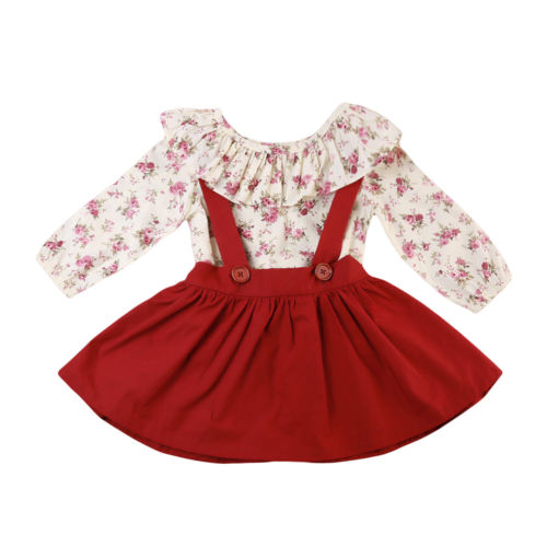 Child Kids Baby Girl Clothing Sets Long Sleeve Tops Shirt Flower Tutu Skirts 2pcs Cute Outfits Clothes Set princess toddler kids baby girl clothes sets sequins tops vest tutu skirts cute ball headband 3pcs outfits set girls clothing