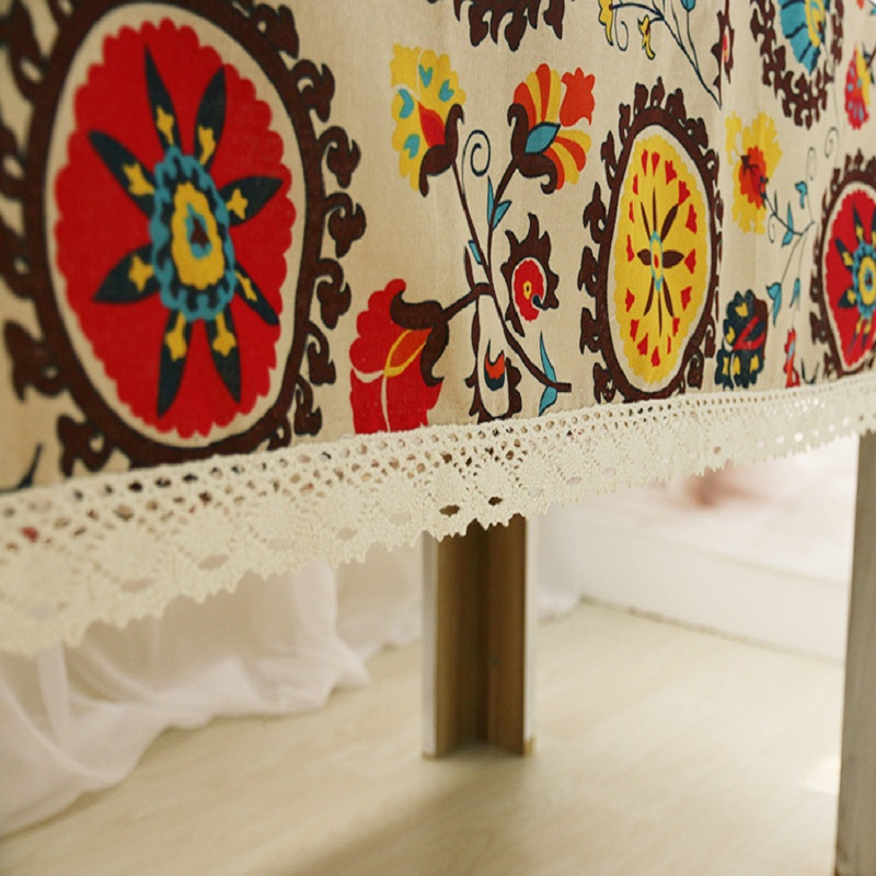 Home textile cotton linen tablecloth folk wind Bohemian cover cloth the table