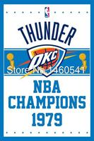 Oklahoma City Thunder World Champions Flag 3ft X 5ft Polyester NBA Banner Flying Size No 4