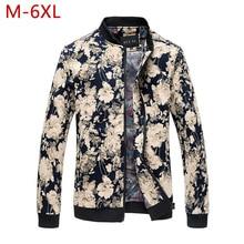 Plus Size 6XL Cotton Jacket For Men Spring Autumn Varsity Fashion Outwear Windbreak Male C
